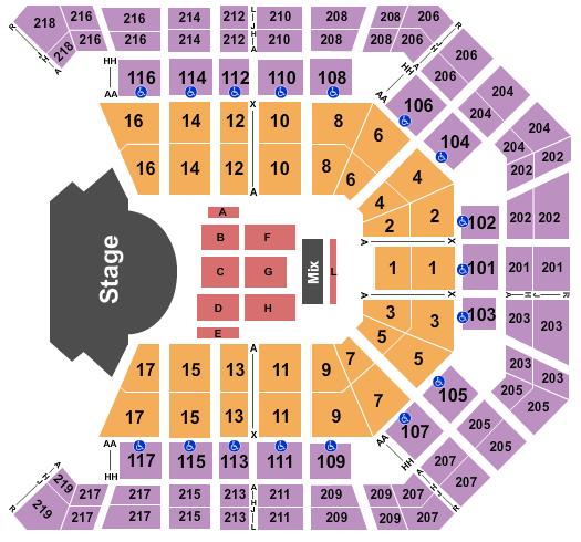 MGM Grand Garden Arena Seating Chart: Latin Grammys