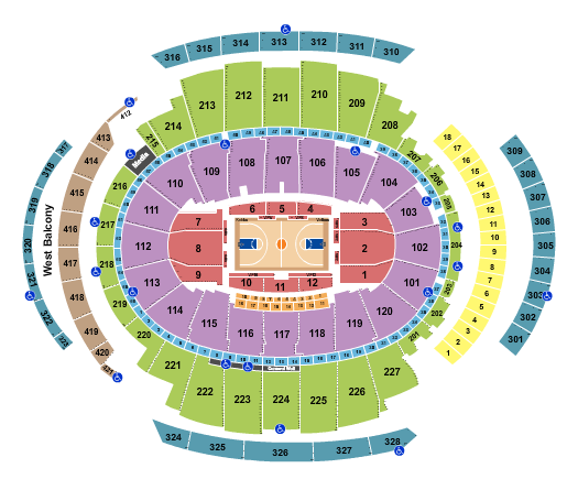 Madison Square Garden Map