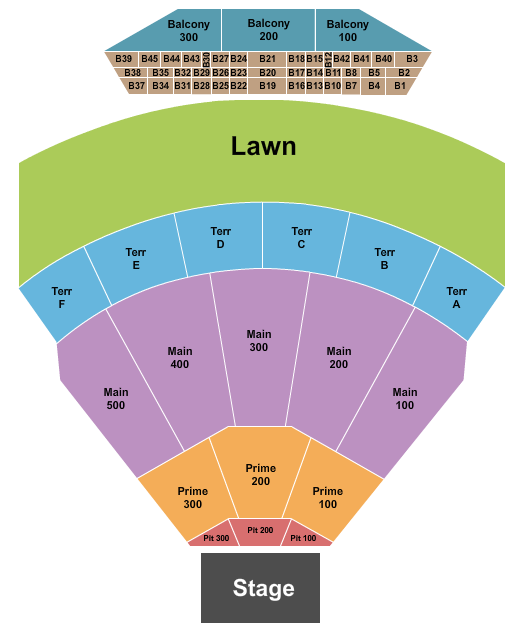 TD Pavilion at The Mann Center For The Performing Arts Seating Chart
