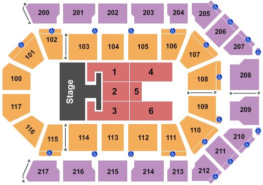 Mechanics Bank Arena Seating Chart