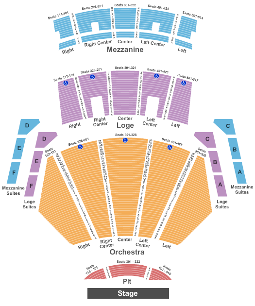 Microsoft Theater Seating Chart