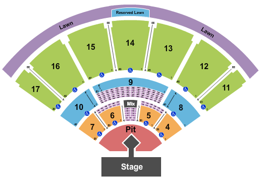 MidFlorida Credit Union Amphitheatre At The Florida State Fairgrounds Seating Chart