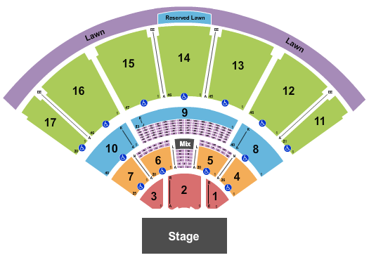 MidFlorida Credit Union Amphitheatre At The Florida State Fairgrounds Seating Chart: End Stage