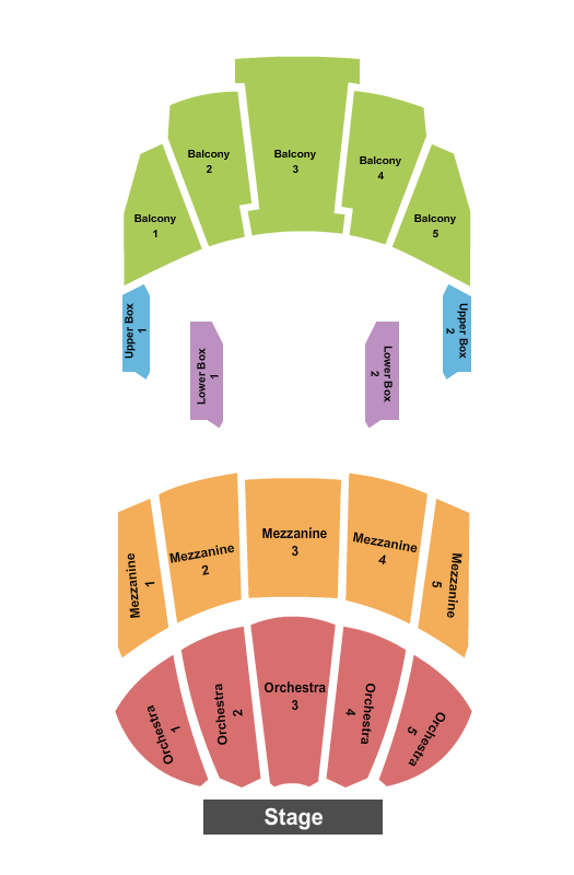 Miller High Life Theatre Seating Chart: Endstage No Pit