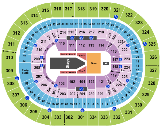 Moda Center at the Rose Quarter Seating Chart