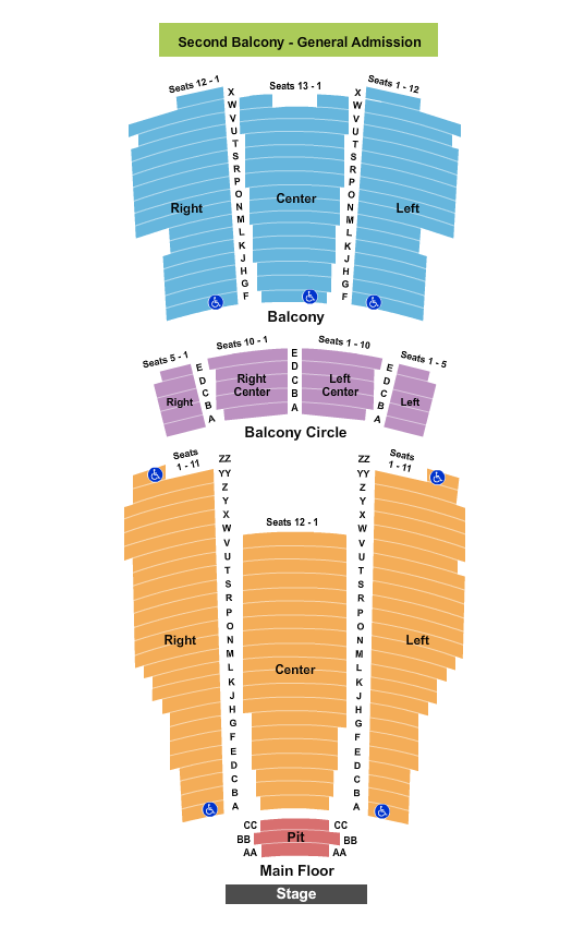 Moore Theatre Seating Chart
