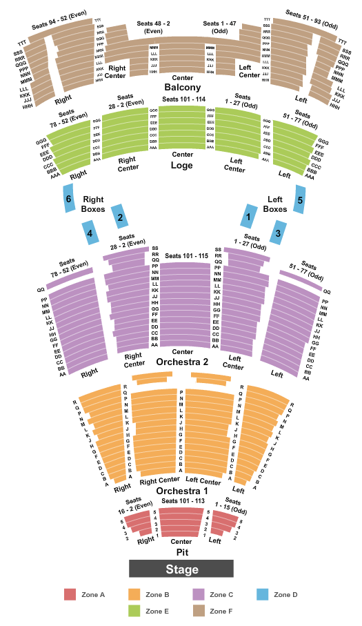Moran Theater at Times Union Ctr Perf Arts Seating Chart