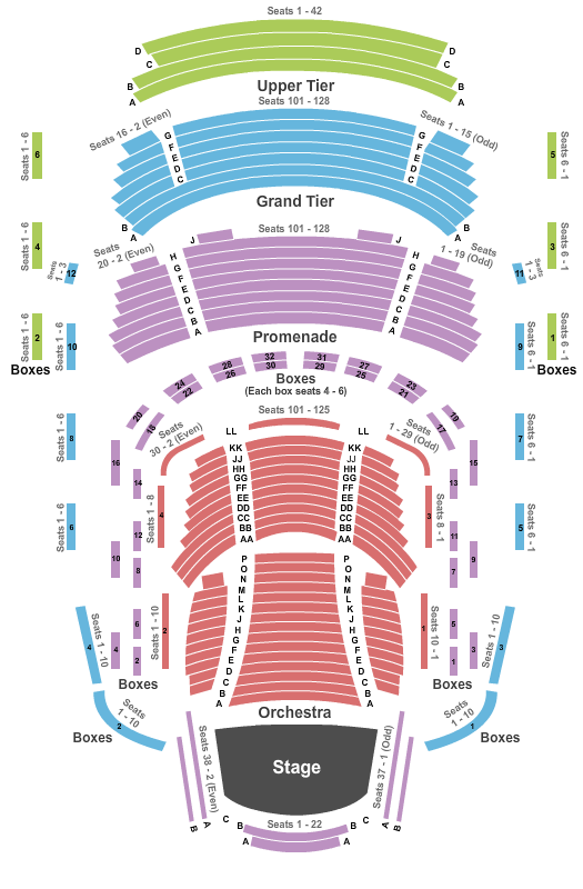 Music Center At Strathmore Seating Chart: End Stage