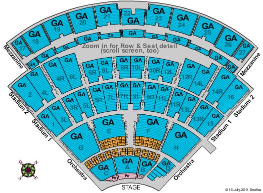 Nikon at Jones Beach Theater Seating Chart