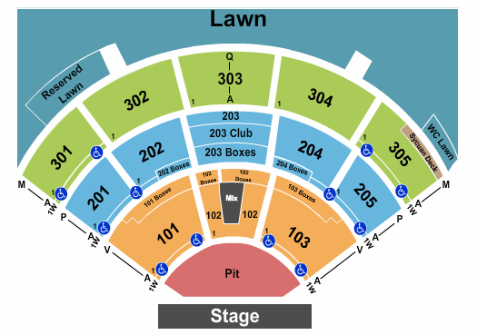 North Island Credit Union Amphitheatre Seating Chart