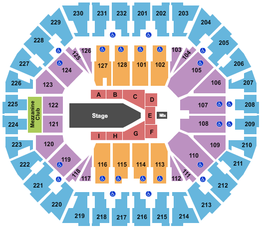 Oakland Arena Seating Chart