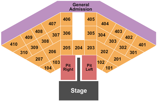 Ocean City Beach Seating Chart: Endstage Pit L&R