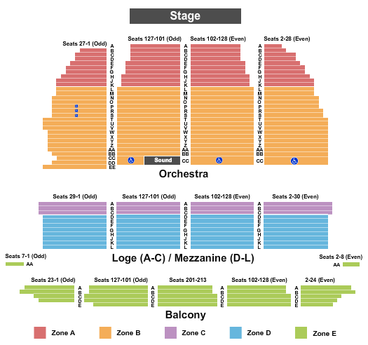 Orpheum Theatre Seating Chart