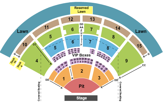 PNC Music Pavilion Seating Chart