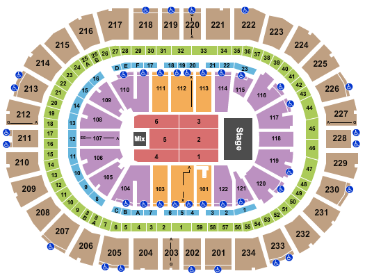 PPG Paints Arena Seating Chart: Andrea Bocelli