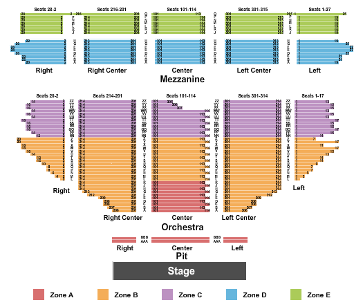 Hollywood Pantages Theatre Seating Chart