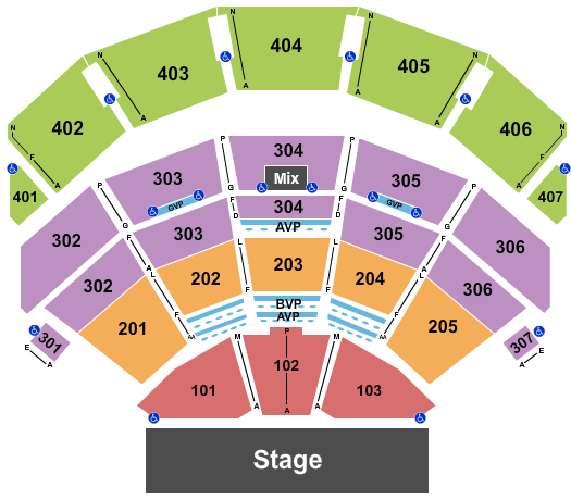 Park Theater at Park MGM Seating Chart: Endstage 2