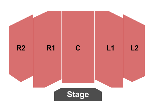 Pavilion Theater at Tropicana Laughlin Seating Chart: Endstage