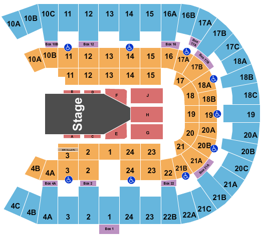 Pechanga Arena Seating Chart