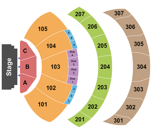 Performance Venue at Hollywood Park Seating Chart