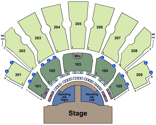 Planet Hollywood Theater Of The Performing Arts Seating Map