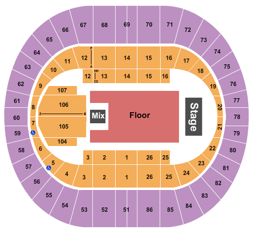 Portland Veterans Memorial Coliseum Seating Chart