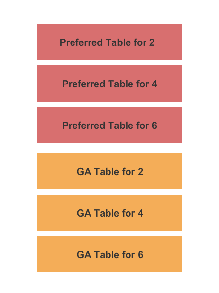 Improv Comedy Club - Addison Seating Chart: GA & Preferred