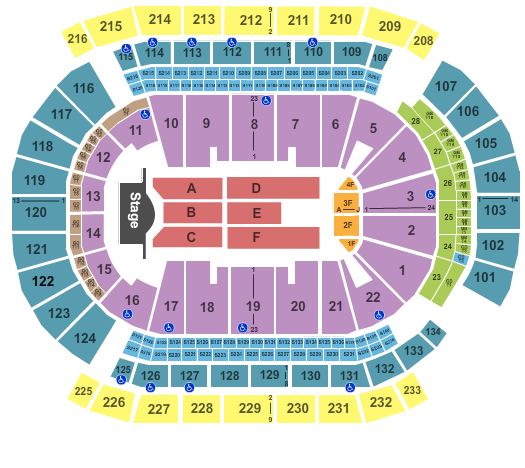 Prudential Center Seating Chart: End Stage