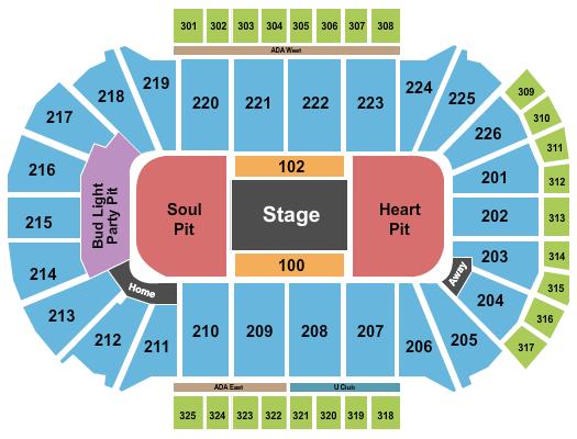 Resch Center Seating Chart