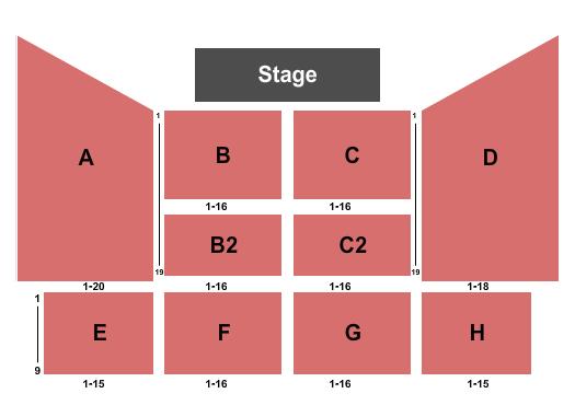 Rhythm City Casino Resort Event Center Seating Chart