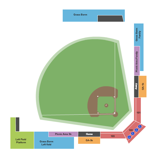 Ridgefield Outdoor Recreation Complex Seating Chart