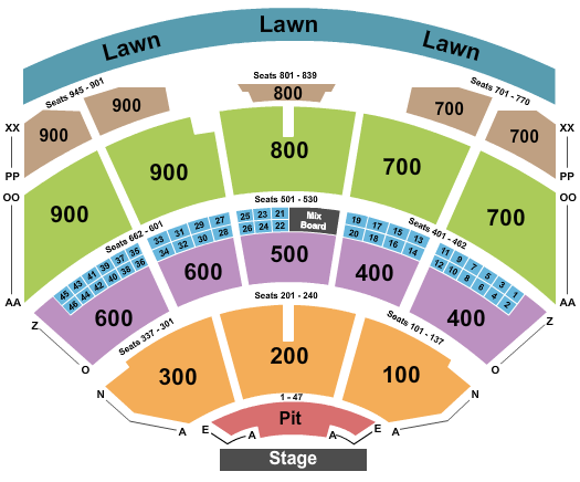 Riverbend Music Center Seating Chart
