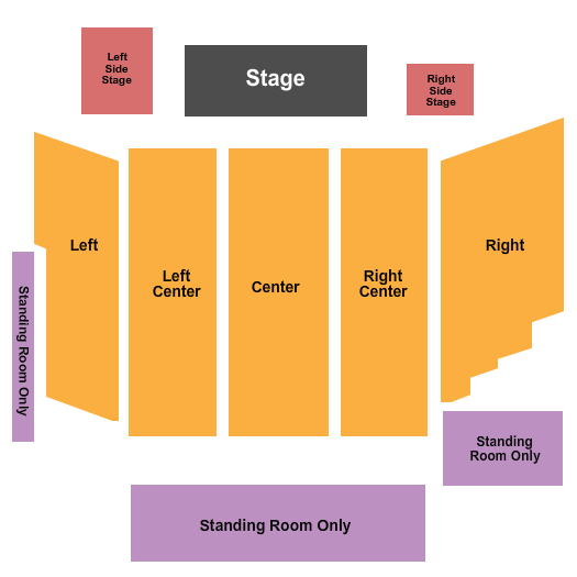 Rivers Casino Event Center at The Rivers Casino - Pittsburgh Seating Chart: Endstage 2