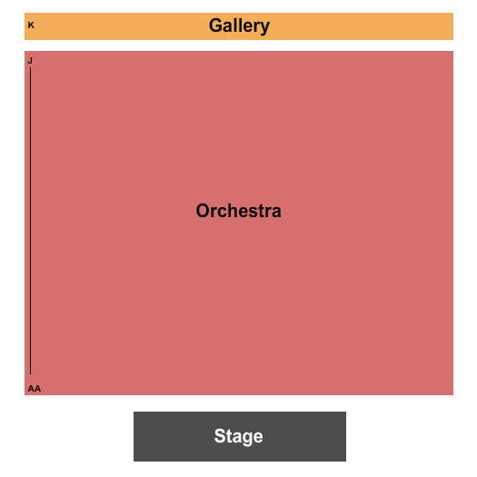 Roberts Studio Theatre at Boston Center For The Arts Seating Chart