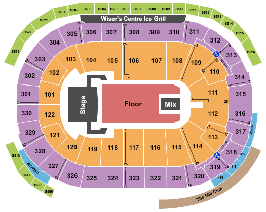 Rogers Arena Seating Chart