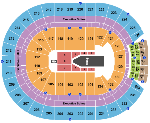 Rogers Place Seating Chart
