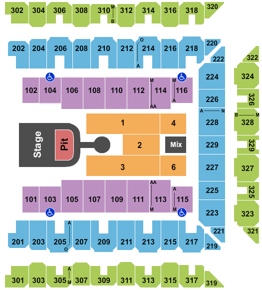 Royal Farms Arena Seating Chart: Maverick City Music