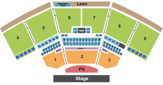 The Pavilion At Star Lake Seating Chart