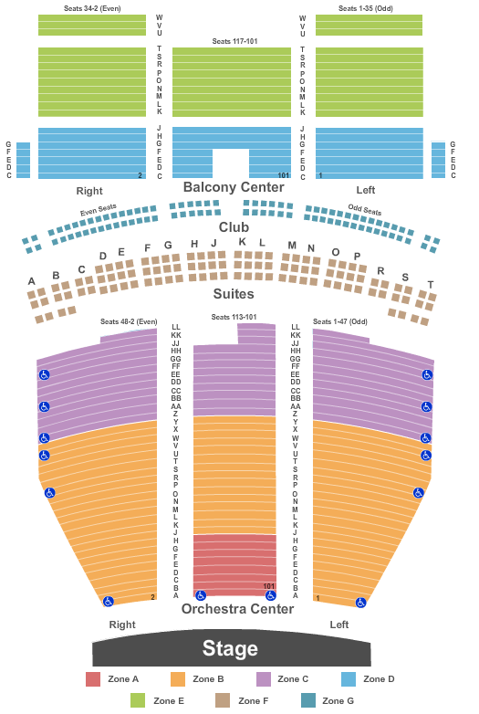 Saenger Theatre Seating Chart