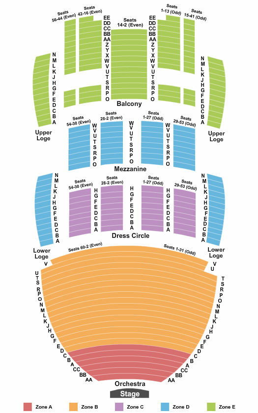 San Diego Civic Theatre Seating Chart