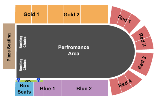 Sisters Rodeo Arena Seating Chart