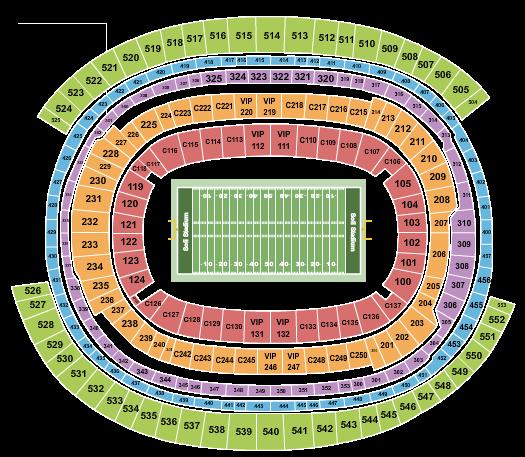 SoFi Stadium Seating Chart