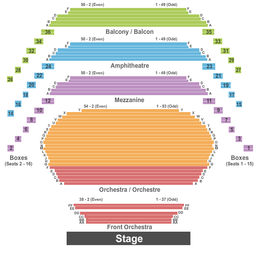 Southam Hall at National Arts Centre Seating Chart