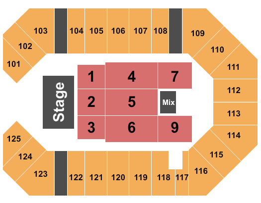 The Corbin Arena Seating Chart