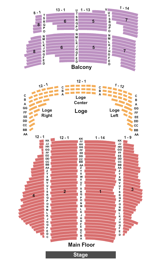 State Theatre Seating Chart