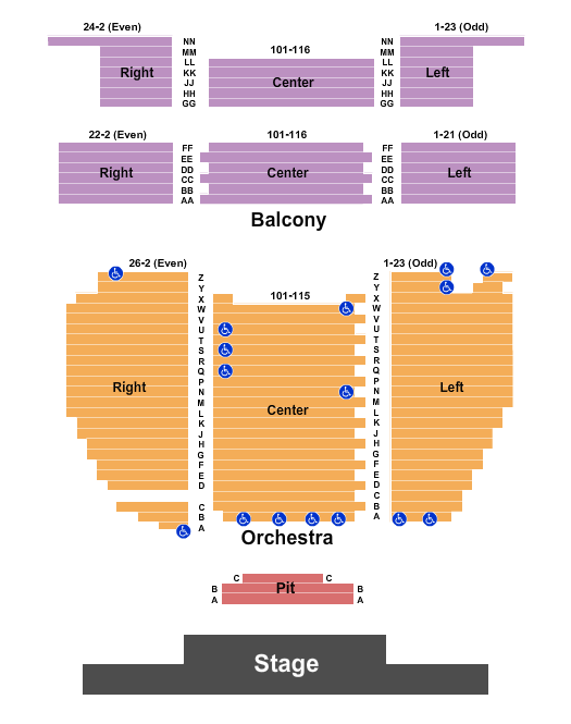 Sunrise Theatre Seating Chart