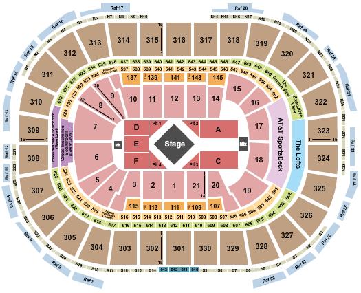 TD Garden Seating Chart