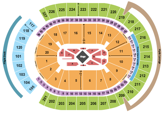 T-Mobile Arena Seating Chart: George strait