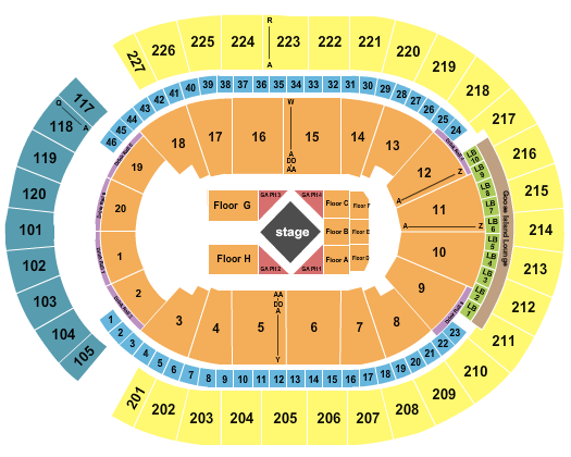 T-Mobile Arena Seating Chart: Luke Combs