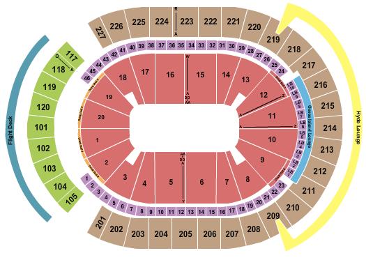 T-Mobile Arena Seating Chart: Open Floor